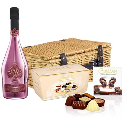 Armand de Brignac Brut Rose, NV Champagne 75cl And Chocolates Hamper