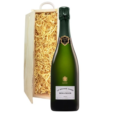 Bollinger Grande Annee, 2007 Vintage Champagne In Pine Gift Box