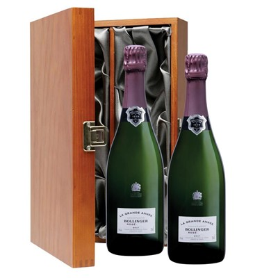 Bollinger Grande Annee, Rose, 2007 Vintage Champagne Twin Luxury Gift Boxed (2x75cl)