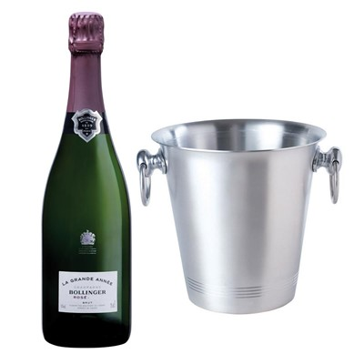 Bollinger Grande Annee, Rose, 2007 Vintage Champagne With Ice Bucket Set