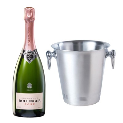 Bollinger Rose Champagne 75cl With Ice Bucket Set