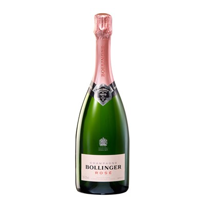 Buy a single bottle of Bollinger Rose Champagne 75cl . Presented in a stylish Gift Box and Gift Card with your personal message in. Bollinger Rose is modelled on the Special Cuvee blend combining the fruits of previous harvests plus the addition of reserve wines from their cellars. Price includes free UK Mainland Delivery, and Exports and international delivery available.