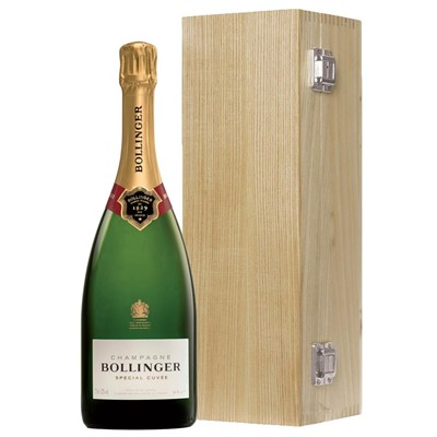 Bollinger Special Cuvee, Champagne 75cl Oak Luxury Gift Boxed