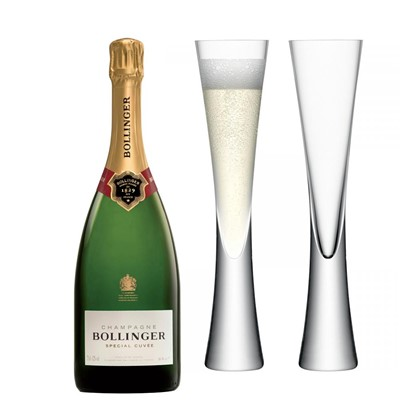 Bollinger Special Cuvee, Champagne 75cl with LSA Flutes