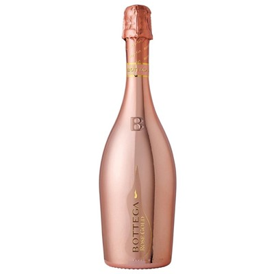 Bottega Prosecco Rose Jeroboam. Brilliant with fine and lasting bubbles. Distinctly flowery with a scent of mixed berries, mainly currants and wild strawberries. A fresh taset, with good acidity. A harmonious, delicate and persistent finish.