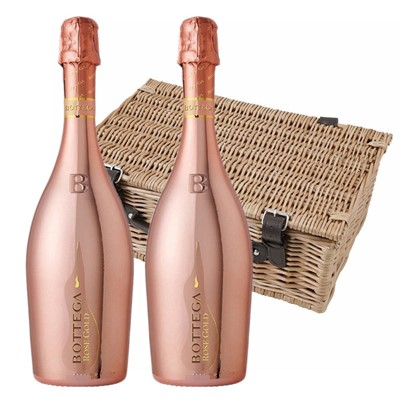 Bottega Rose Gold Sparkling Wine 75cl Twin Hamper (2x75cl)