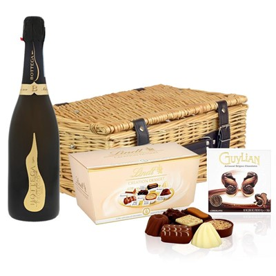 Bottega Vino dei Poeti Prosecco DOC 75cl And Chocolates Hamper