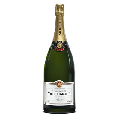 Buy a Magnum of Taittinger Brut Reserve NV Champagne (1.5 litres)  Taittinger have the reputation of one of the grandest Grande Marques. The taste is elegant with a unique flowery perfume all of its own.