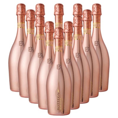 Case of 12 Bottega Rose Gold Sparkling Wine 75cl