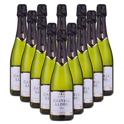 Case of 12 Castell Llord Brut Cava  75cl