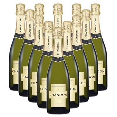 Case of 12 Chandon Brut Sparkling Wine 75cl