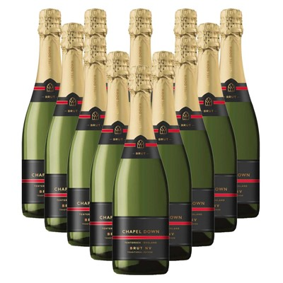 Case of 12 Chapel Down Brut NV English Sparkling Wine 75cl