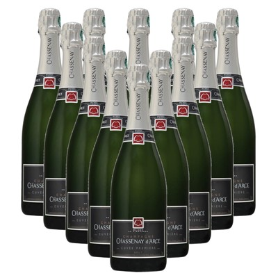 Case of 12 Chassenay d'Arce Cuvee Premiere Brut Champagne 75cl