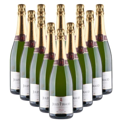 Case of 12 Jules Feraud Brut Champagne 75cl