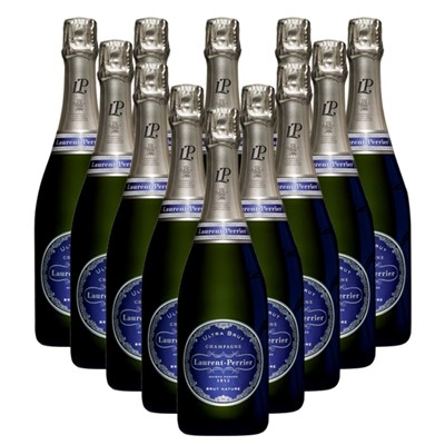 Case of 12 Laurent  Perrier Ultra Brut Champagne 75cl