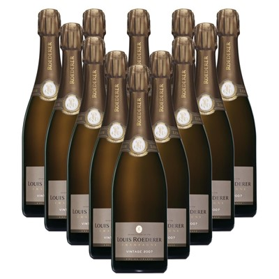 Case of 12 Louis Roederer 2012 Brut Vintage Champagne 75cl