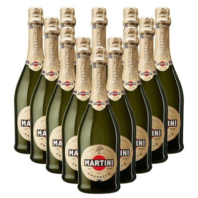 Case of 12 Martini DOC Prosecco 75cl