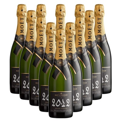 Case of 12 Moet & Chandon 2012 Brut Vintage Champagne 75cl