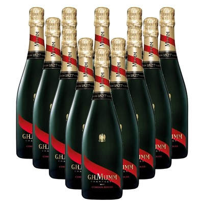Case of 12 Mumm Cordon Rouge Champagne 75cl