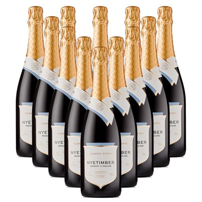 Case of 12 Nyetimber Classic Cuvee English Sparkling Wine 75cl