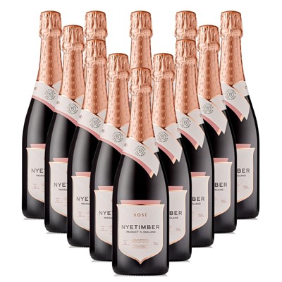 Case of 12 Nyetimber Rose English Sparkling Wine 75cl