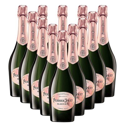 Case of 12 Perrier Jouet Blason Rose Champagne 75cl