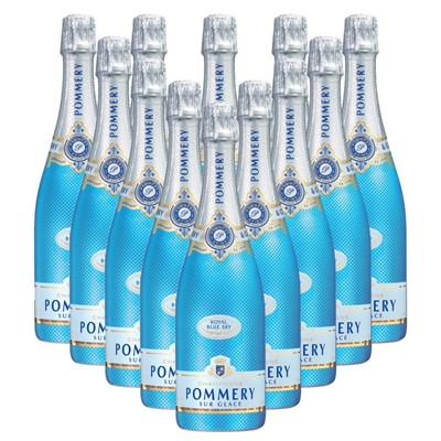 Case of 12 Pommery Blue Sky Champagne 75cl