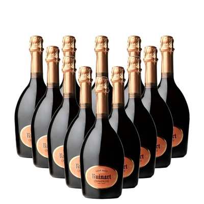 Case of 12 Ruinart Rose Champagne 75cl