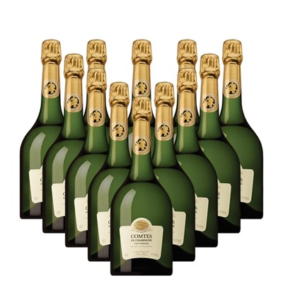 Case of 12 Taittinger Comtes Champagne 2007 75cl