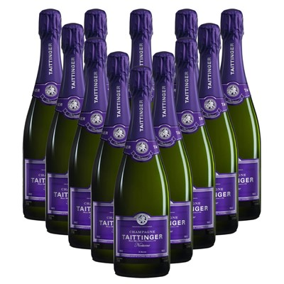 Case of 12 Taittinger Nocturne Sec Champagne 75cl