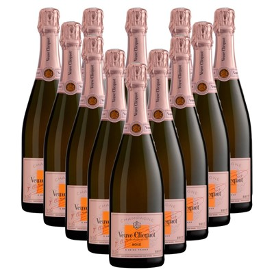 Case of 12 Veuve Clicquot Rose Champagne 75cl