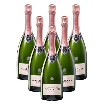 Case of 6 Bollinger Rose Champagne 75cl (6x75cl)