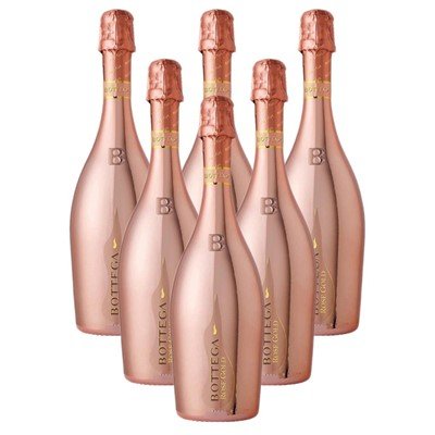 Case of 6 Bottega Rose Gold Sparkling Wine 75cl (6x75cl)
