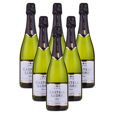 Case of 6 Castell Llord Brut Cava  75cl (6x75cl)