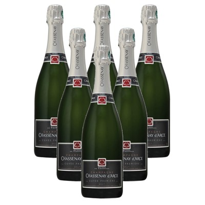 Case of 6 Chassenay d'Arce Cuvee Premiere Brut Champagne 75cl (6x75cl)