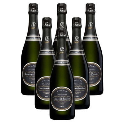 Case of 6 Laurent  Perrier Brut 2008 Vintage Champagne (6x75cl)