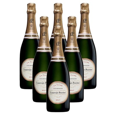 Case of 6 Laurent  Perrier La Cuvee Brut Champagne 75cl (6x75cl)