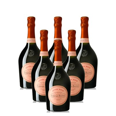 Case of 6 Laurent Perrier Rose Chamapgne 75cl (6x75cl)