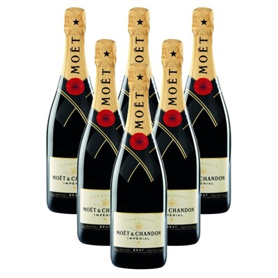 Case of 6 Moet & Chandon Brut Champagne 75cl (6x75cl)