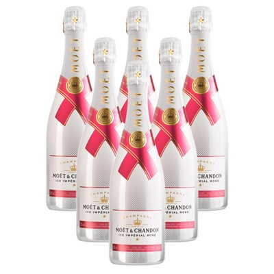 Case of 6 Moet & Chandon Ice Imperial Rose Champagne 75cl (6x75cl)