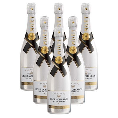 Case of 6 Moet and Chandon Ice White Imperial Champagne 75cl (6x75cl)