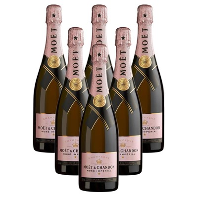 Case of 6 Moet & Chandon Rose Champagne 75cl (6x75cl)