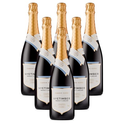 Case of 6 Nyetimber Classic Cuvee English Sparkling Wine 75cl (6x75cl)