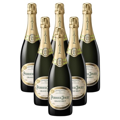 Case of 6 Perrier Jouet Grand Brut Champagne 75cl (6x75cl)