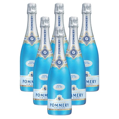 Case of 6 Pommery Blue Sky Champagne 75cl (6x75cl)