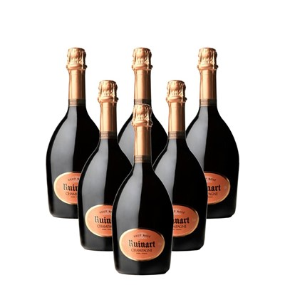 Case of 6 Ruinart Rose Champagne 75cl (6x75cl)