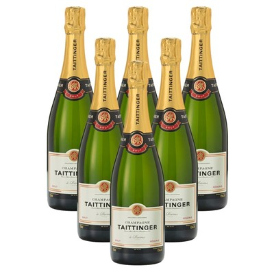 Case of 6 Taittinger Brut Reserve Champagne 75cl (6x75cl)