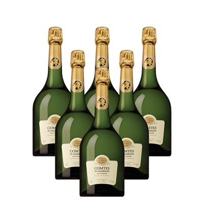 Case of 6 Taittinger Comtes Champagne 2007 75cl (6x75cl)