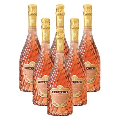 Case of 6 Tsarine Rose Champagne NV 75cl (6x75cl)