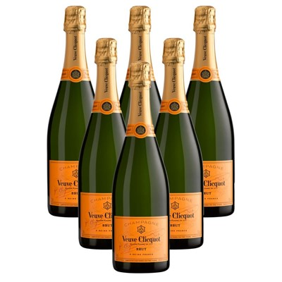 Case of 6 Veuve Clicquot Brut Champagne 75cl (6x75cl)